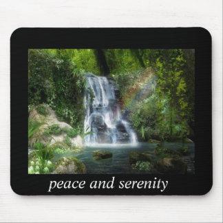 peaceful waterfall mousepad