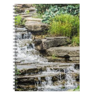 Peaceful Waterfall Notebook