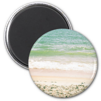 Peaceful Waves Pastel Beach Photography Magnet