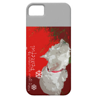 PEACEFUL WESTIE HOLIDAYS CASE FOR THE iPhone 5