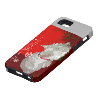PEACEFUL WESTIE HOLIDAYS iPhone 5 COVER