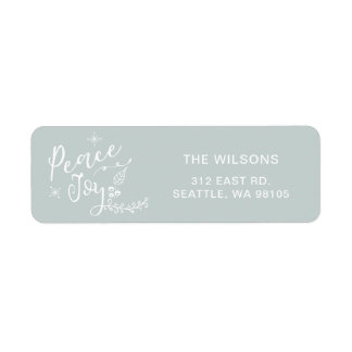 Peaceful Wishes Modern holiday Return Address Label