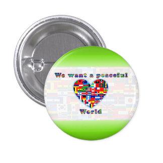 PEACEFUL WORLD button