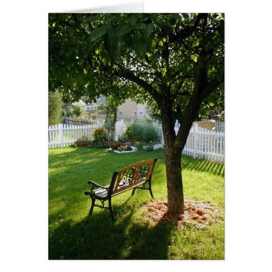 Peaceful Yard Relaxation Card