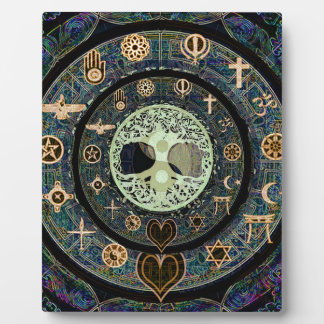 Peaceful Yin Yang Tree of Life Symbol Plaque