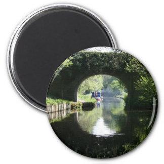 Peacefulness Blue Boat Llangollen Canal Magnet