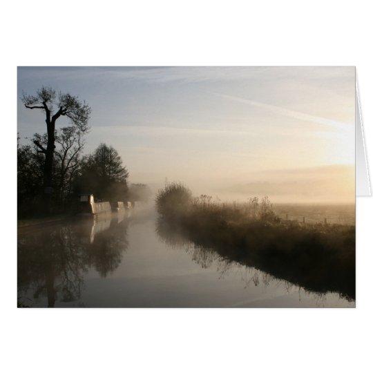Peacefulness Llangollen Canal Sunrise Notecard