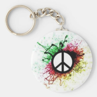 PeaceKeychain Basic Round Button Key Ring