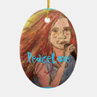 PeaceLove Rocker Girl Christmas Ornament