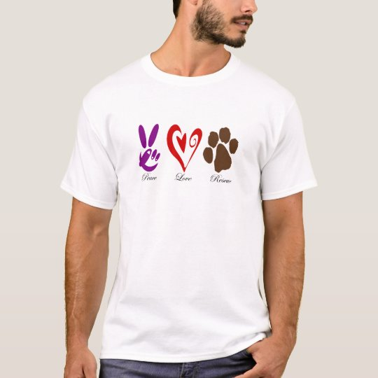 PeaceLoveRescue T-Shirt