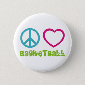PEACELOVEsymbols-basketball. 6 Cm Round Badge