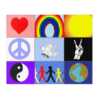 peaceloveunity Mosaic Acrylic Wall Art