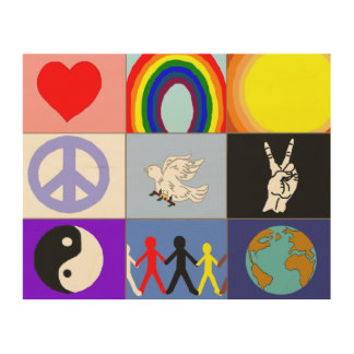 peaceloveunity Mosaic Wood Wall Art