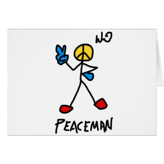 peaceman.jpg greeting card