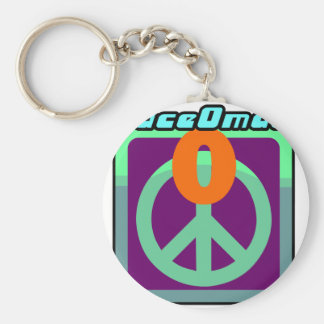 PeaceOmatic World peace Basic Round Button Key Ring