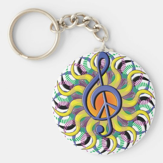PeaceSun Basic Round Button Key Ring