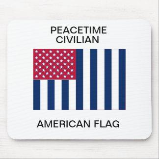 Peacetime civilian American flag Mouse Pad