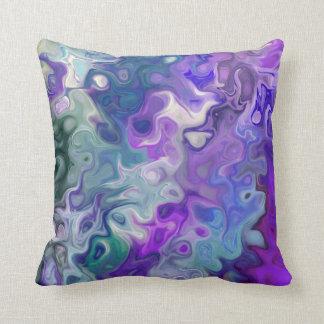 Peacfully Dreamy Purple swirls modern abstract 33 Cushion