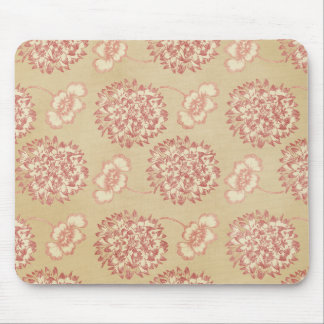 Peach and Cream Flower Pattern Mousepads