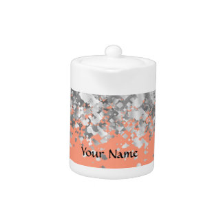 Peach and faux glitter personalized