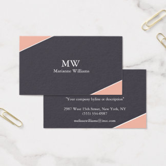 Peach and Gray Women's Professional Business Card