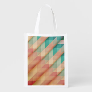Peach and Green Abstract Geometric