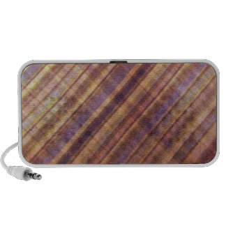 Peach and Lavender Damask Stripes Mp3 Speakers