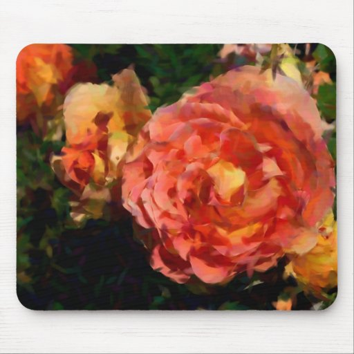 Peach And Orange Products Mousepads