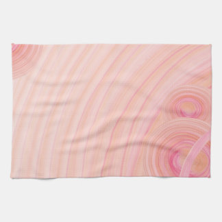 Peach and Pink Pastel Spirals Hand Towels
