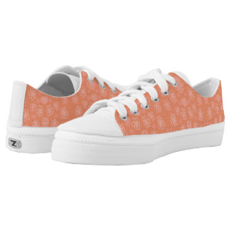 Peach and Pink Printed Shoes