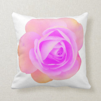 Peach and Pink Rose Pillow