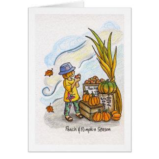 Peach and Pumpkin Season Greeting Card