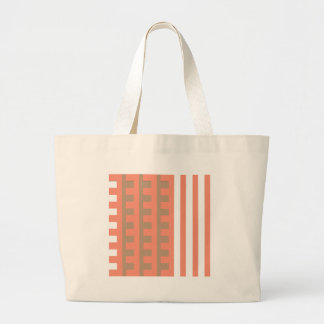 Peach and Tan Combs Tooth Canvas Bags