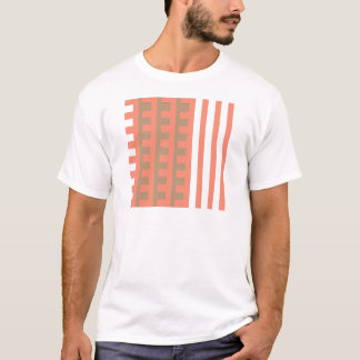 Peach and Tan Combs Tooth T-Shirt