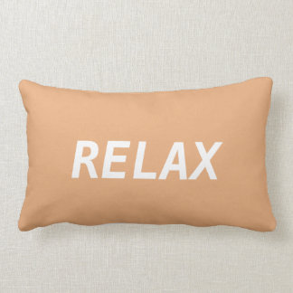 Peach and White Relax Lumbar Pillow