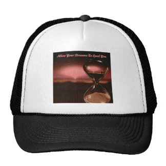 Peach Artsy Sunrise With Hourglass & Saying Cap