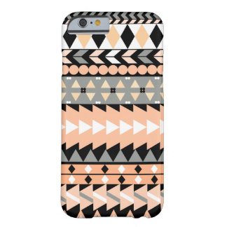 Peach Aztec Black Barely There iPhone 6 Case