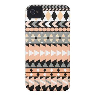 Peach Aztec Black iPhone 4 Cover