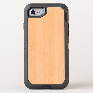 Peach Bamboo Wood Grain Look OtterBox Defender iPhone 7 Case