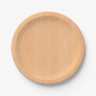 Peach Bamboo Wood Grain Look Paper Plate  sc 1 st  Zazzle & Apricot Peach Kitchen Accessories u0026 Supplies | Zazzle.co.uk