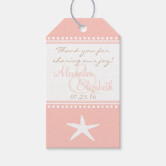 Peach Beach Wedding Guest Favor Thank You-