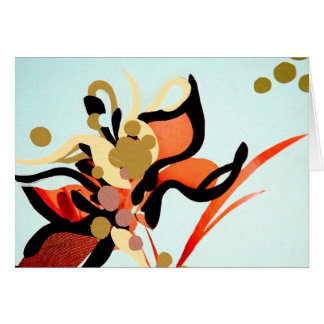 Peach Blooms Over Blue Card