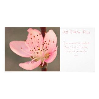 Peach Blossom -  Birthday Party Invitation Picture Card