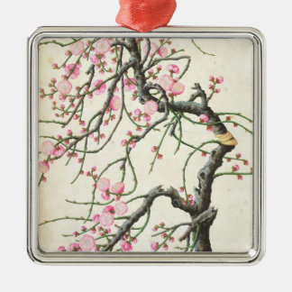 Peach blossom (colour on paper) christmas ornament