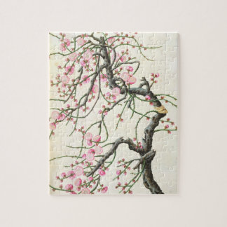 Peach blossom (colour on paper) jigsaw puzzle