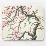 Peach blossom (colour on paper) mouse pad