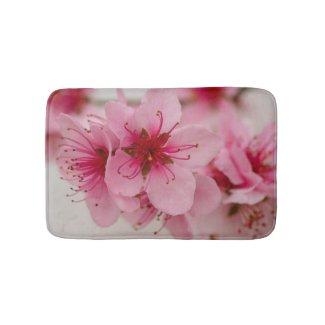 Peach Blossom Floral Bath Mat