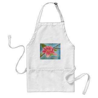 Peach Blossom Original Painting Standard Apron