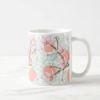 Peach Blossom Pattern Coffee Mug