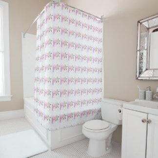 Peach blossom pattern shower curtain